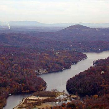 Lake Lure, NC USA from Chimney Rock