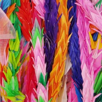 1000's of paper cranes, Childrens Monument, Hiroshima