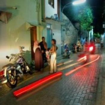 Maldive Night Street Scene