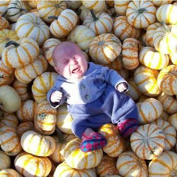 I found my son in the pumpkin patch!