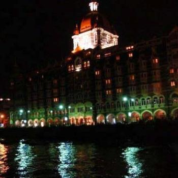 Hotel Taj at night, Mumbai