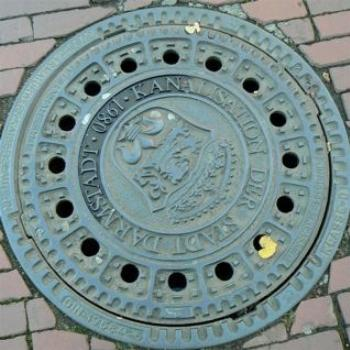 Manhole Cover, Darmstadt, Germany (Ian/Sydney)
