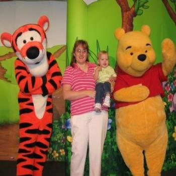 Laura (And Sharon) meeting Winnie-the-Pooh & Tigger