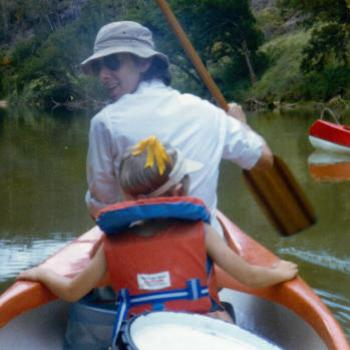 canoeing Avon River NSW 1980 Kate/Sydney