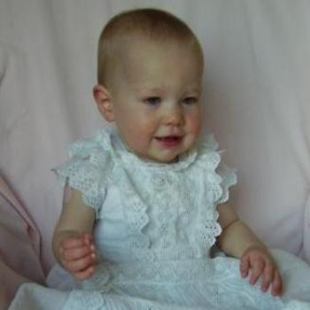 Laura in the family Christening Gown
