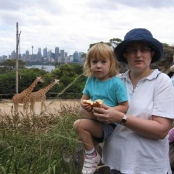 Laura and Mummy with the Giraffes