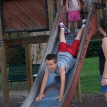 This is too how you go down a slide