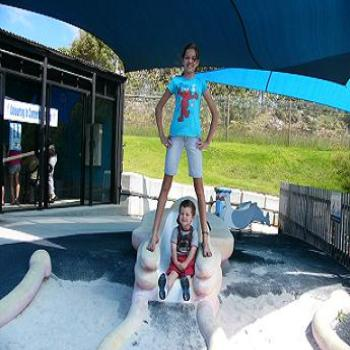 Hayley and Bailey at Whale World, Frenchman Bay