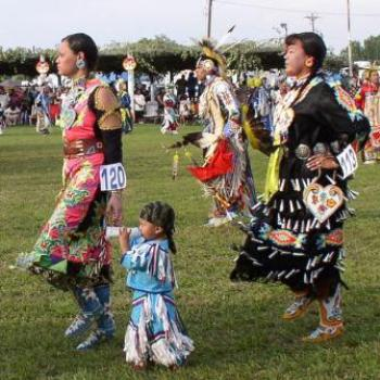 Family Affair at the Ute/Ouray Pow-Wow in Utah, July 2008, by Wilodene