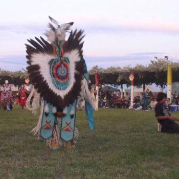 Imagine the work to create the elaborate feathers on this dancer at the Ute/Ouray Pow-Wow in Utah, July 2008, by Wilodene
