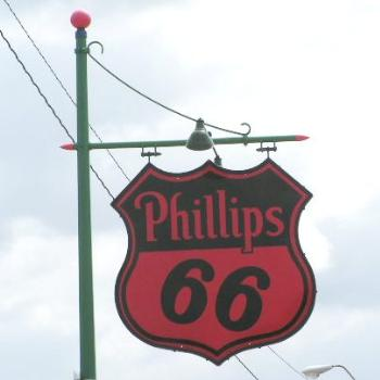 Old Phillips 66 gas sign on Route 66 Sue/OK