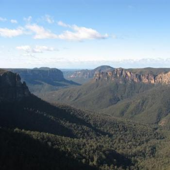View from Govetts Leap in the Blue Mountains