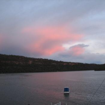 1028 sunset clouds Hawkesbury River Nov'08 Kate/Sydney
