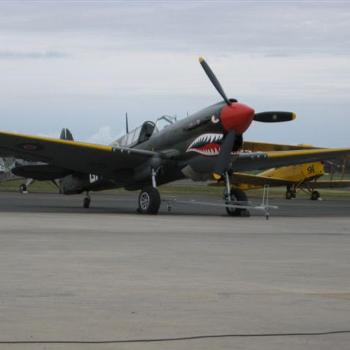 Kittyhawk and Tiger Moth at Temora June Flying Weekend