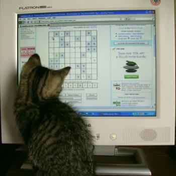 "Nothing like a little help with a ""hard"" Sudoku!"