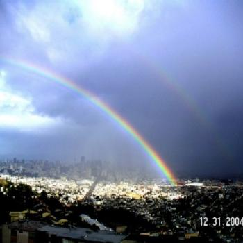 New Year's Eve Rainbow, San Francisco. Taken in 2005 by Keyan Bowes