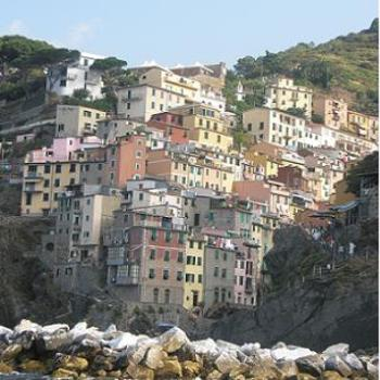 Vernazza from the Ferry - Cinque Terre - Italy