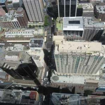 Looking down from the Sydney Tower (Sydney '09/LankyYank)