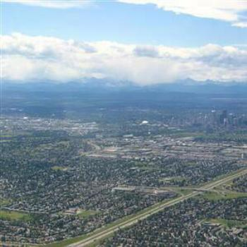 Calgary from the air, Canada, Wendy/Perth