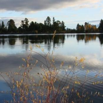 Autumn stroll along lake shore in Uintah Mountains by Wilodene of Utah
