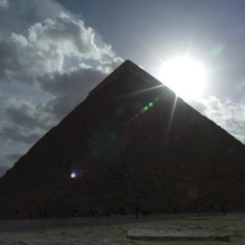 Sunset behind the pyramid, Giza, Egypt, Eileen (Surrey, England)