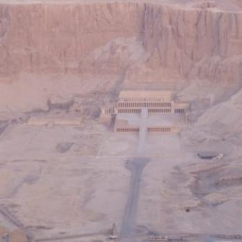 Hatshepsut's Temple from Hot Air Balloon, Egypt, Eileen (Surrey, England)