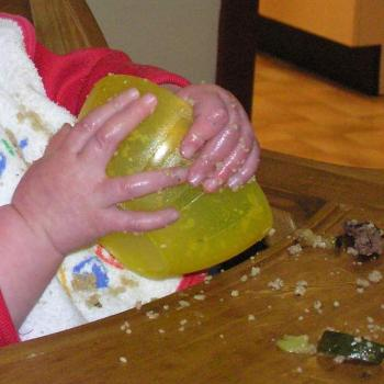 messy eater! couscous wasn't designed for fingers
