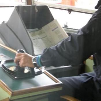Our vaporetto driver was doing Sudoku between stops, Venice 2005 - Anne/Sydney