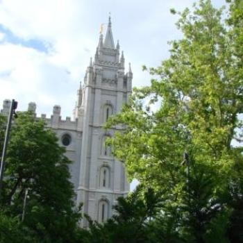 Salt Lake City Temple view from ground level, June 2010 by Wilodene