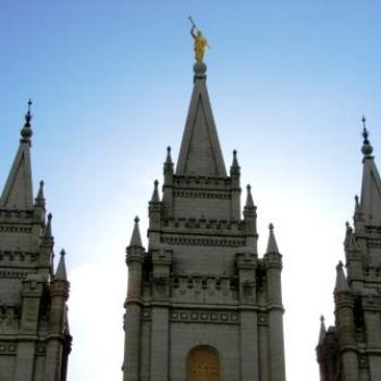 Salt Lake City Temple eastern view of spires, June 2010 by Wilodene