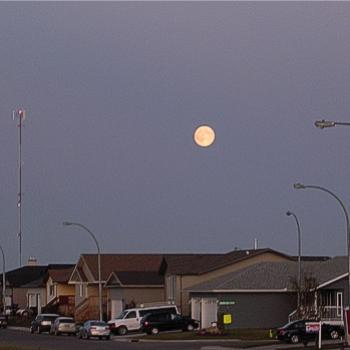 Harvest moon over Carriage Lane - September 2010