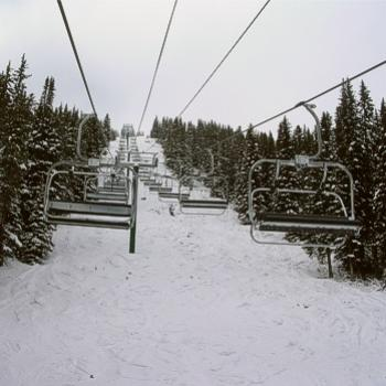 Ptarmigan Chair above Exhibition, Lake Louise, AB - Bev, Ab