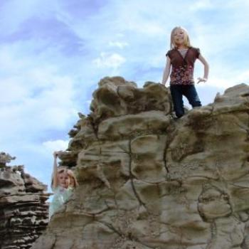 Granddaughter Rock Climbers in Fantasy Canyon Apr 2011 by Wilodene from Utah