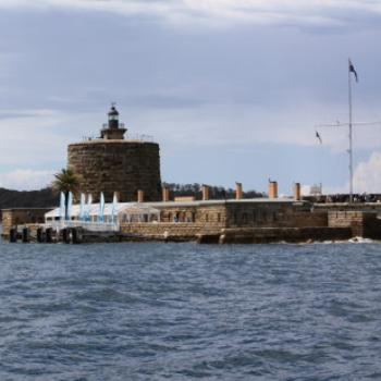 2393 Fort Denison from ferry, Island Hopping,11th Oct09, Kate/Sydney