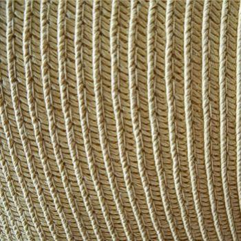 Detail of my straw hat, May 2011 - Bev, AB