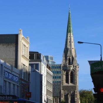3846 Cathedral spire from Columbo St, Christchurch, NZ 19th March'10 - 10 months before it was severly damaged by an earthquake, Kate/Sydney