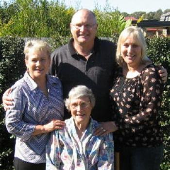 Deb from Brisbane and her mum, brother and sister