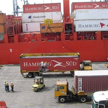 Preparing to load - Container terminal, Cartagena, Colombia. Jan. 2011 - Bev, AB