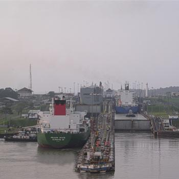 Entering the Gatun Locks, Caribbean end of the Panama Canal - Bev, AB