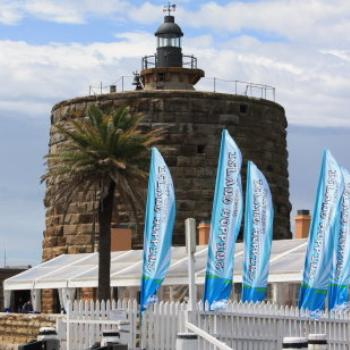 2393 2401 Martello Tower, restaurant marquee, Fort Denison, Island Hopping,11th Oct09, Kate/Sydney