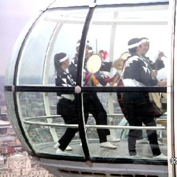 Taiko Drummers in the London Eye - Keyan Bowes