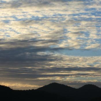 8953 sunset sky, Hawkesbury River, 22nd Aug'09, Kate/Sydney