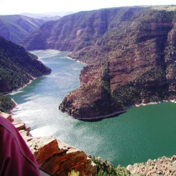 View of Red Canyon portion of Flaming Gorge Reservoir, Utah