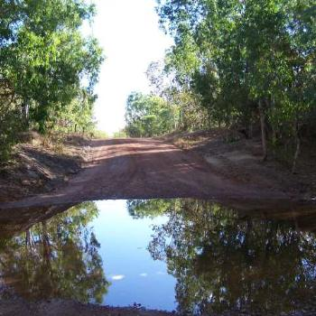 Reflection on the Port Keats Road NT