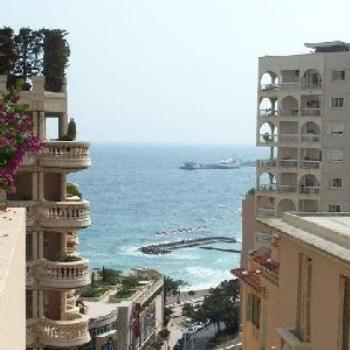 A view of the ocean from near where I live in Monaco.
