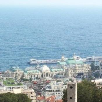 The casino at Monte Carlo! Seen from the hills outside of the city.