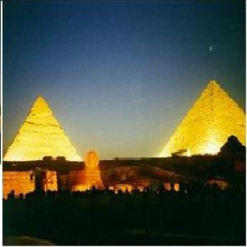 Light of the great Pyramids of Egypt