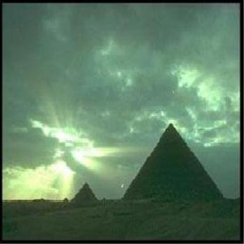 Egyptian great Pyramids at sunset