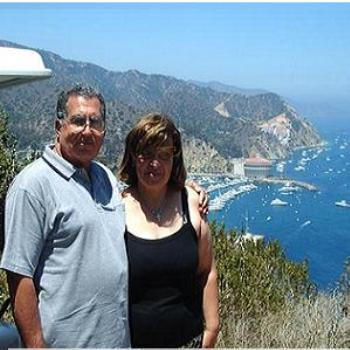On top of Catalina Beach.My wife and me (Wagdy)