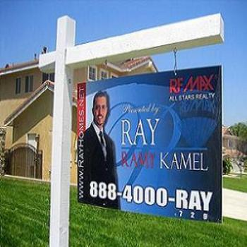 My son Ramy's (RAY) sign as A Real State broker in CA.